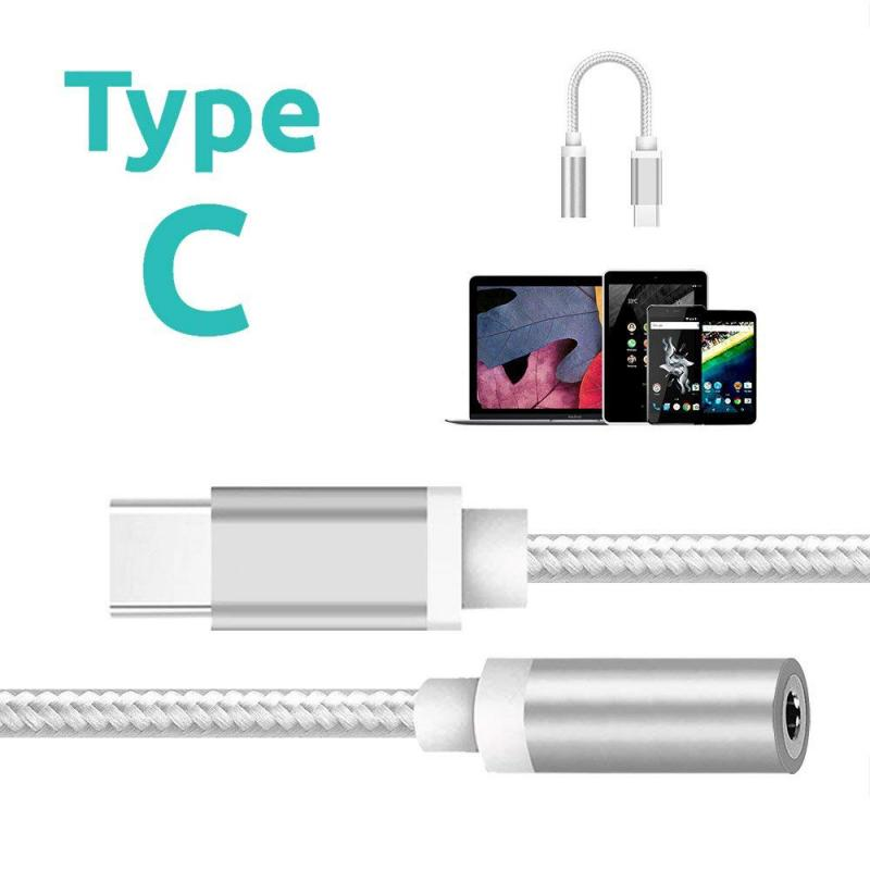 4 Colors USB Type C To 3.5mm Headphone Jack Cable Adapter Type C To 3.5mm Stereo Audio Headset Aux Connector For Xiaomi 6 6X