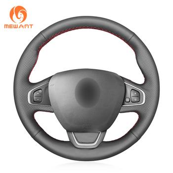 MEWANT czarne prawdziwa skóry Wrap pokrowce na kierownicę samochodową dla Renault Clio 4 (IV) Kaptur Captur 2016 2017 2018-2019 2020 tanie i dobre opinie CN (pochodzenie) Górna warstwa skóry Kierownice i piasty kierownicy 0 32kg feel comfortable for Renault Clio 4 (IV) Kaptur Captur 2016-2020
