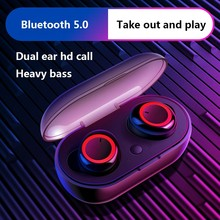 New Bluetooth Wireless Earphone TWS Binaural Sports Headset 3D Stereo Sound With Mic Handsfree Charging Box