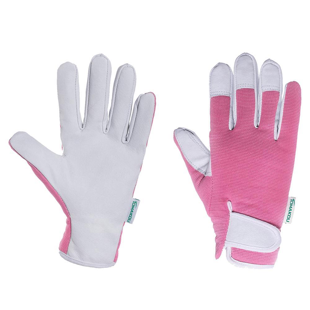 Женские кожаные садовые перчатки