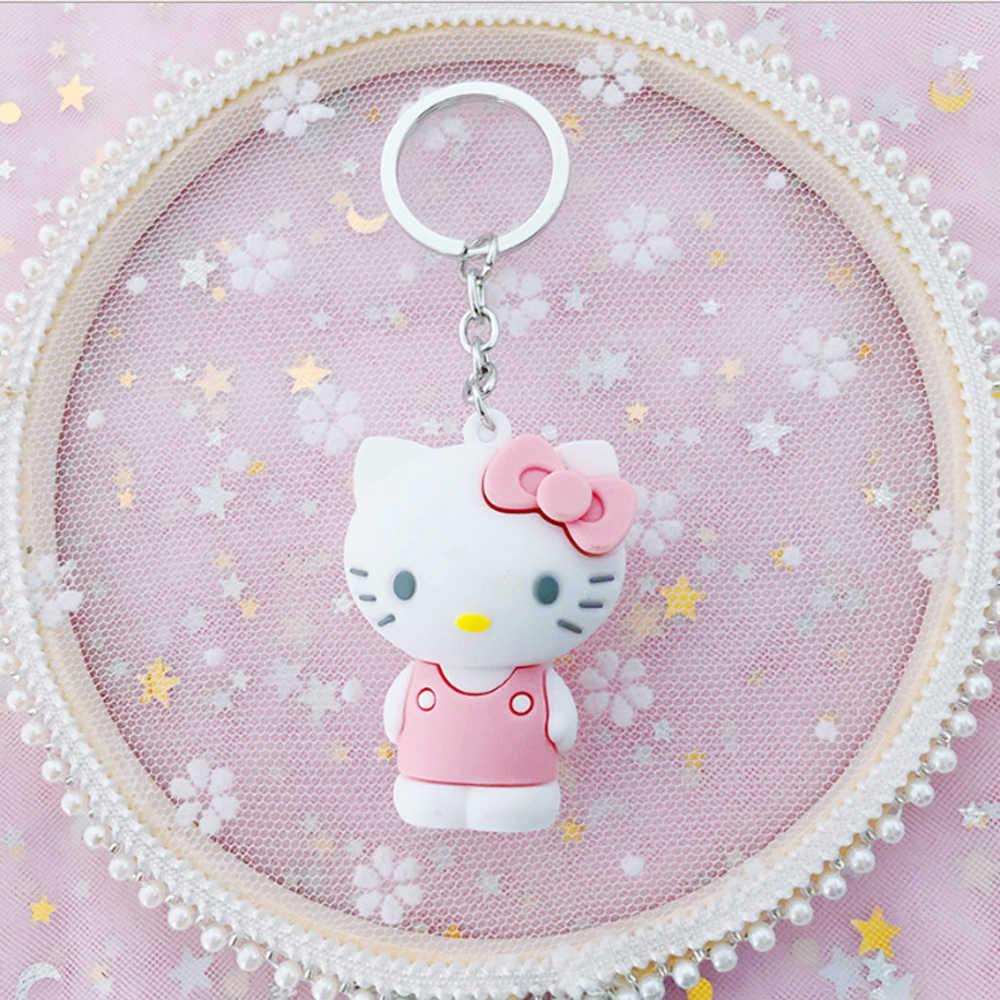 Olá KT Gato Dos Desenhos Animados Chaveiros Bonito chaveiro Charme Saco Chave Figura Anéis Crianças Brinquedo Pingente Chaveiro lo mas vendido 2019 llaveros