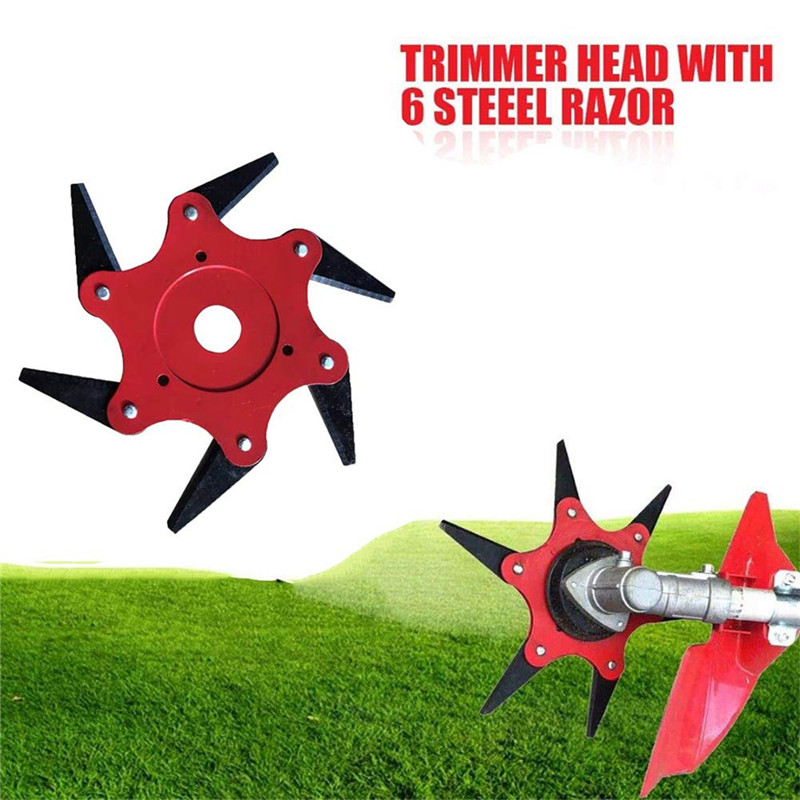 6 Teeth Brush Cutter Blade Trimmer Metal Blades Trimmer Head 65Mn Grass Trimmer Head For Lawn Mower Garden Tools