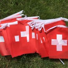 Swiss Flag Switzerland-String Banner Holiday-Decoration Party Buntings Britain 9m Pennant