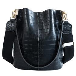 Moda feminina bolsa nova feminina sacos femininos grande capacidade crossbody sacos de crocodilo padrão bolsa de ombro