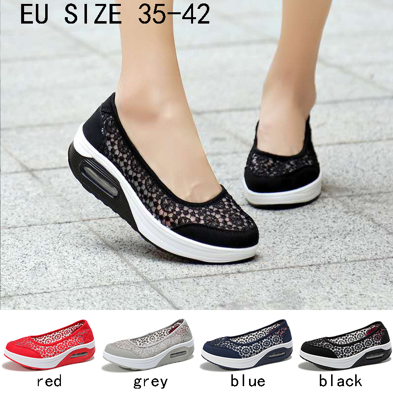Women's  Fashion  New  Mesh  Shoes  Spring  And  Summer  Female Cool Net Shoes Breathable Lace Shake Women Footwear Casual Shoes