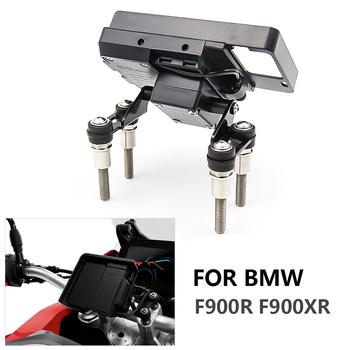 Kierownica telefon komórkowy wspornik nawigacyjny USB do szybkiego ładowania telefonu dla BMW F900R F900XR F 900 R F 900 XR F900 R F900 XR 12mm tanie i dobre opinie Yirizomai 0inch FOR BMW F900R F900XR aluminum And 304 steel Obejmuje listew ozdobnych 0 3kg