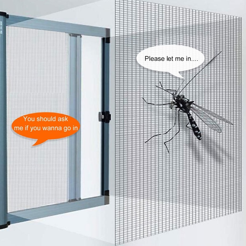 Mosquito-Nets Screens Magic-Stickers Windows Self-Adhesive for Invisible DIY Simple Custom