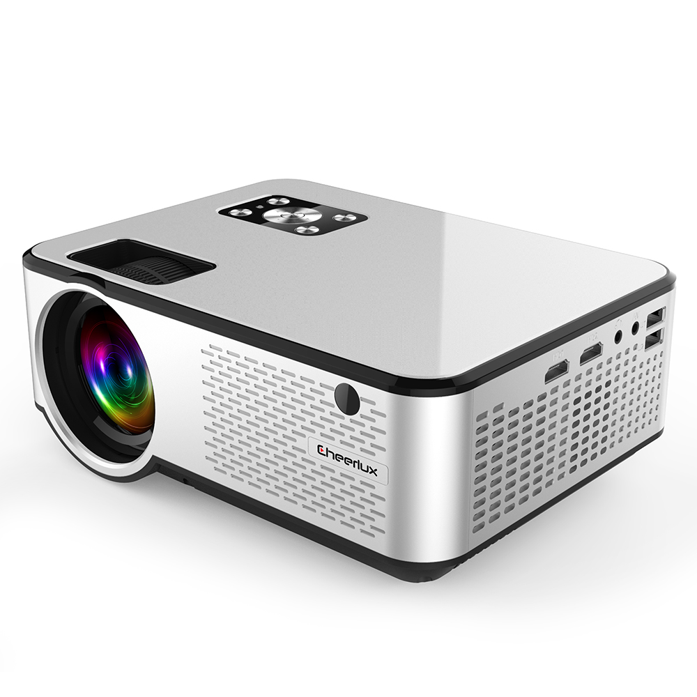 C9 проектор домашний кинотеатр 1280*720P светодиодный + lcd поддержка 4K видео HDMI ноутбук телефон 6000 люмен кинопроектор для Android