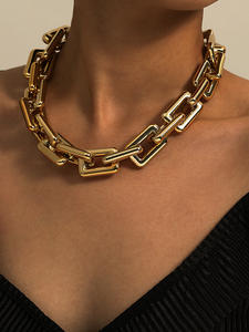 Chain Necklace Punk-Lock Gothic Jewelry Steampunk Men Twisted-Chunky Hip-Hop Statement