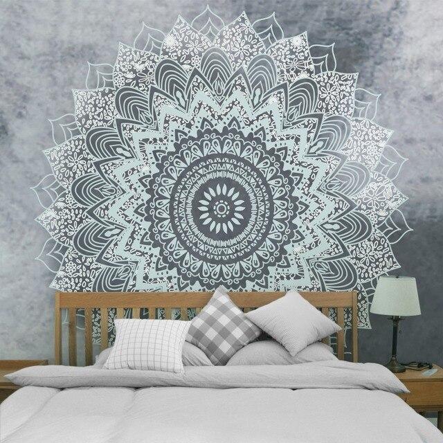 Printed Lotus Tapestry Bohemia Boho Mandala Tapestry Wall Hanging Wall Decoration Hippie Tapestry Beach Towel Yoga 5sizes TAP211 1