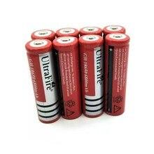 8PCS  3.7V 18650 6800mAh Battery Lithium Rechargeable Li-ion Bateria For Flashlight