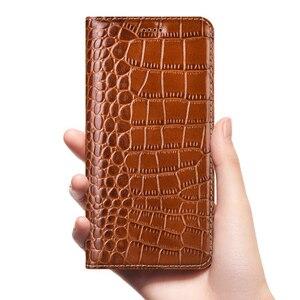 Image 4 - Timsah hakiki deri kılıf Nokia 1 2 3 5 6 7 8 9 artı sirocco 2018 lüks kapak çevirin cep telefonu kılıfları