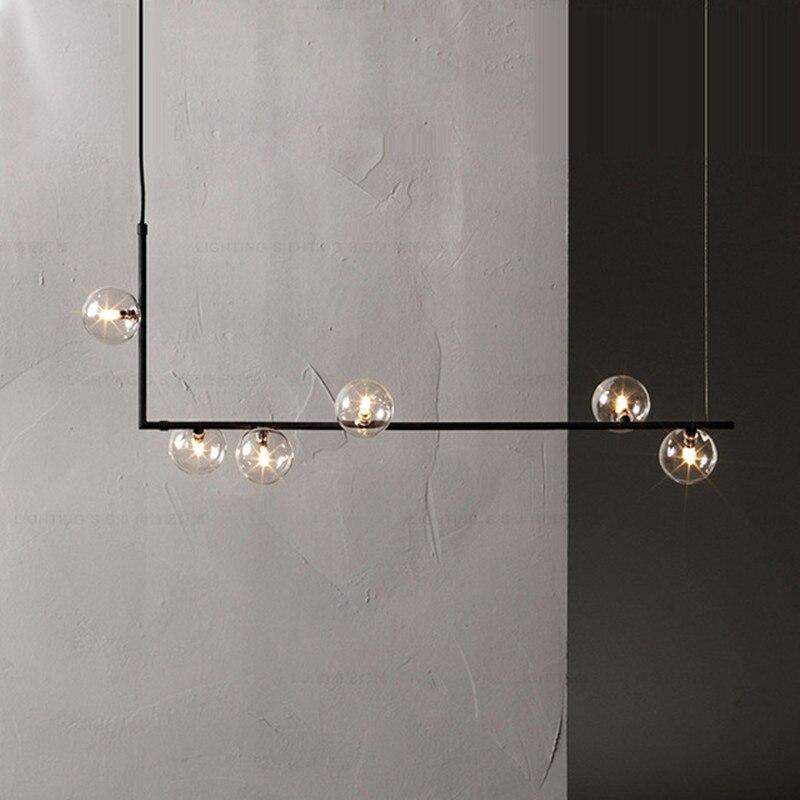 Новый дизайн, стеклянный шар, подвесной светильник, приспособления для гостиной, ресторана, кухни, столовой бара