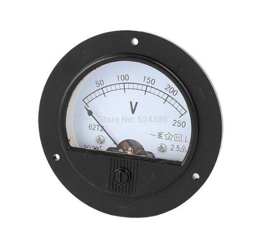 Аналоговый вольтметр 62T2, 300 В переменного тока, 450 в, 500 в, 600 В переменного тока, 0-250 В, измеритель напряжения, измерительный прибор, класс 2,5
