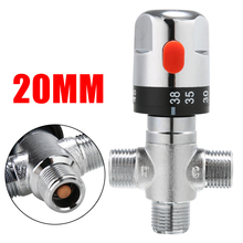 Bathroom Pipe Shower Thermostatic Mixing Valve Copper Thermostat Faucet Mixing Valve Tools for Water Temperature Control  20mm