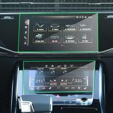 Navegação do carro tela de vidro temperado película protetora etiqueta para audi q8 2019 2020 rádio gps lcd painel protetor tela