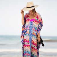 Chiffon Strand Cover up Tuniken für Strand Lange Kaftan Bikini Cover up Robe de Plage Sarong