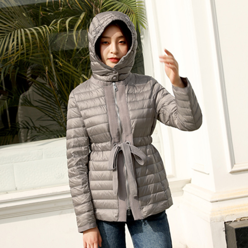 Light Ultra 2020 Down Jacket Woman Hooded Duck Down Coat Winter Autumn Korean Puffer Womens Jackets Coats 8869 Kj3076 S S