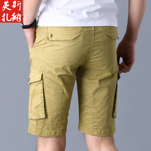 ICCZANA Brand New Cargo Shorts Men Fashion Streetwear Khaki Solid Cargo Pants MenMulti Pocket Cotton Tactical Shorts Men YF506