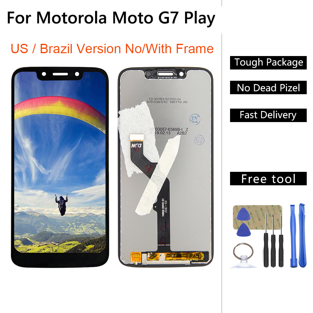 5.7'' G7 LCD For Motorola-Moto G7 Play <font><b>XT1955</b></font> LCD Display Touch Screen Panel Digiziter Assembly For G7 Play Xt1995 XT1952 <font><b>Parts</b></font> image