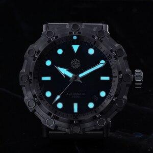Image 5 - San Martin yeni UFO modelleme ahtapot orijinal Diver paslanmaz çelik erkek mekanik saat su geçirmez ışık Relojes