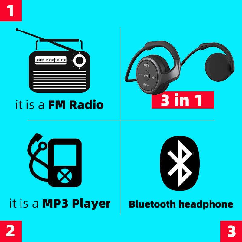 AX698 Bluetooth Hoofdtelefoon MP3 Speler Fm Radio Bluetooth Oortelefoon Comfortabele Bluetooth Headset Draadloze Hoofdtelefoon Met Microfoon
