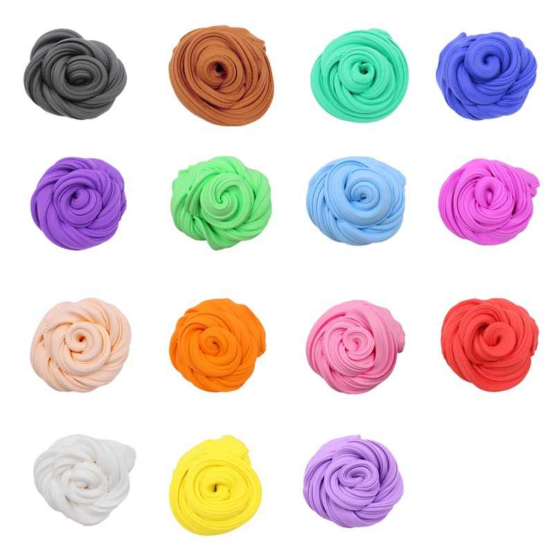 Divertido colorido 15 colores niños juguete para niños y niñas ejercicio manos-sobre capacidad esponjosa espuma arcilla DIY Bola de arcilla de alta calidad de Color suave barro