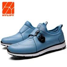 Размер 40 45 Мужская обувь для гольфа без пятки белая Водонепроницаемая