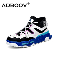 ADBOOV 2019 New Arrivals Women Men Sneakers Mesh High Top Boys Girls Sports Shoes Lace Up Thick Sole Chunky Sneaker