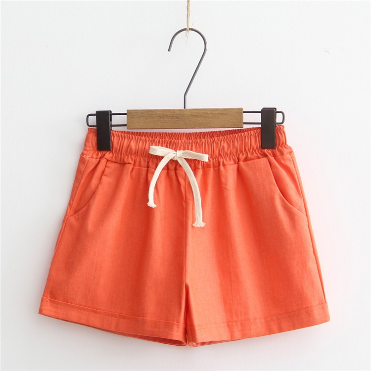 2020 Women's Summer Thin Section Cotton Is Not Curled Outside Wearing Loose Shorts