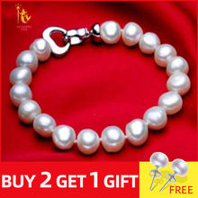 NYMPH pearl jewelry bracelets baroque pearl bracelets fine jewlery white freshwater pearl gift for women S007(China)