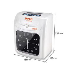 Electronic punch card machine English button Paper jam attendance Punch clock Automatic print conversion With built-in battery