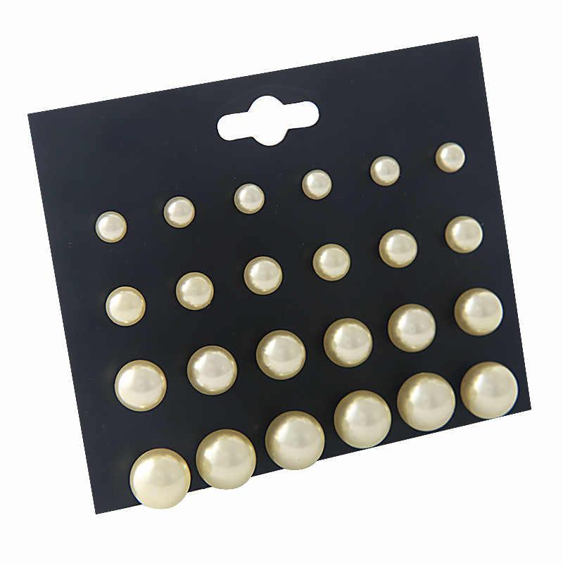 พู่เครื่องประดับผสมสีดำสีขาวเงิน Seaside 1 ชุดผู้หญิงคลาสสิกต่างหูชุดคริสตัลรอบบอลโลหะ pearl