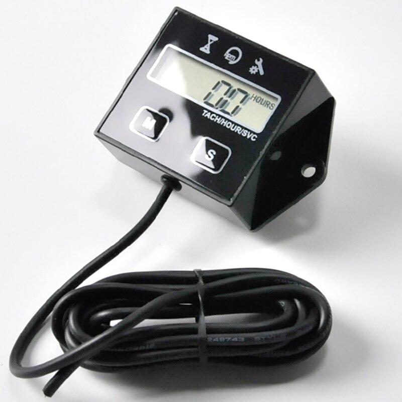 ЖК-цифровой дисплей мото Тахометр двигателя счетчик часов для мотоцикла Тахометр Датчик морская бензопила яма велосипедная Лодка двигатель индуктивный