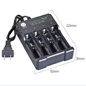 Image 4 - 18650 Sạc Pin Li ion 4.2V 4 Khe Cắm Dây Sạc Đầy Đủ Từ Tắt Máy Nhà Máy Fashlight Pin Sạc