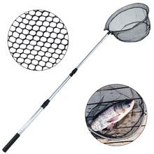 Sougayilang 1.5m Aluminum Alloy Retractable Fishing Net Telescoping Foldable Landing Net Pole Folding Landing Net Fly Fishing