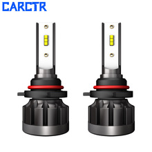 CARCTR 2PCS Car Led Headlights H4 Led H7 Bulbs H1 H11 H8 H9 4000LM 6000K 40W Superbright Fog Lamps Car Headlight Bulbs Headlamp p8 philips chips 40w 4000lm led car headlight h13