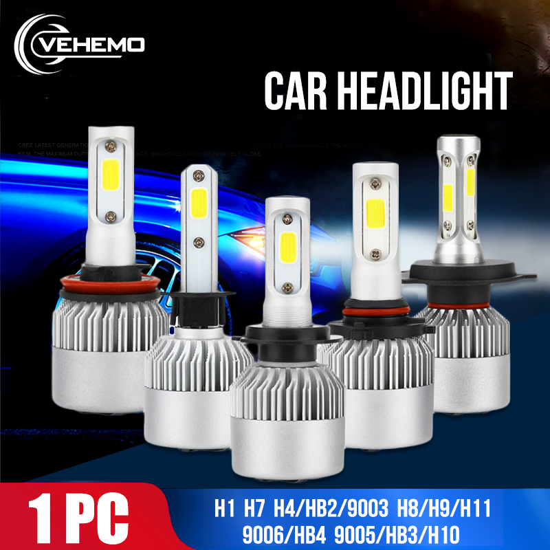 S2 High Power LED H7 H1 Headlight 4000LM Car Styling Front Lamp Assembly 9006/HB4 36W Light Bulbs Universal Lighting Replacement