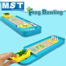 Mini Multicolor Puzzle Desktop Frosch Bowling Launcher Spielzeug Innen Pädagogisches Spielzeug Kreative Interaktion Tabelle Spiel Für Kinder