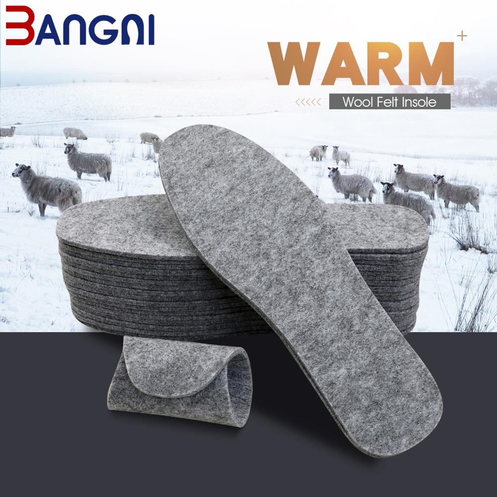 3ANGNI 5 Pairs Wool Felt Insoles Thick Warm Insole For Shoes Genuine Wool Breathable Shoe Pad.