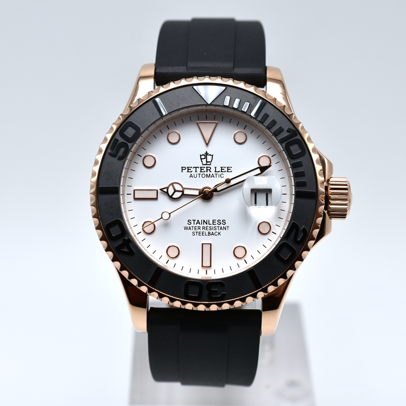 PETER LEE top brand Noctilucous daydate sport mechanical mens watches dropshipping silicone band men automatic wristwatch Fashion Brand Men Sports Watches with Nylon Strap Digital | Watch Companies | PETER LEE | Top Brand Noctilucous 40mm mechanical mens silicone band men automatic wristwatch