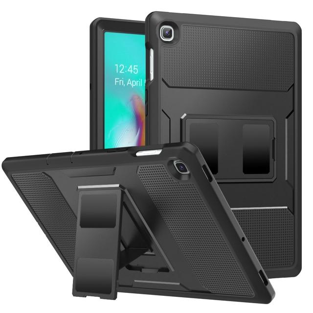 MoKo funda para Samsung Galaxy Tab S5e 2019, [Heavy Duty] a prueba de golpes cuerpo completo Rugged Stand Back Cover Built in Protector de pantalla