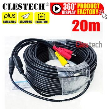 11 11BigSale całkowicie miedziany 20m wideo + moc kable AHD kamera ochrony drutu CCTV DVR System nadzoru BNC DC złącza rozszerzenie tanie i dobre opinie Clestech CN (pochodzenie) Cables 19-20m 3 2MM CAMERA-DVR