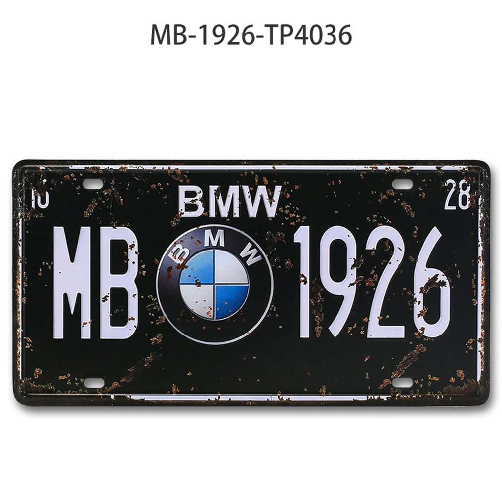 Vintage Design Car Metal License Plate Vintage Home Decor Tin Sign Bar Pub Garage Decorative Metal Sign Metal Painting Plaque