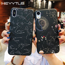 Heyytle Starry Sky Case For iPhone 7 8 Plus 6 6s 5 SE Moon Planet Pattern Case For iPhone X XS MAX XR Ultra Thin PC Cover Coque стоимость