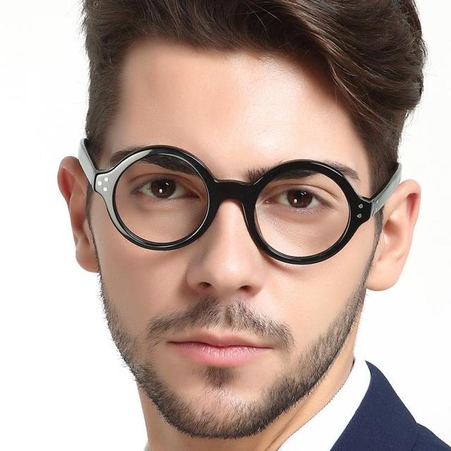 Gafas redondas Vintage para hombre y mujer, gafas de montura de Nerd, gafas graduadas ópticas
