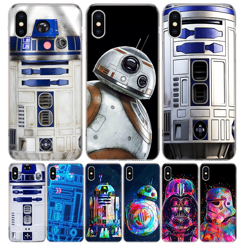 Чехол для телефона R2D2 Moon для Iphone 11 12 Mini Pro 7 6X8 6S Plus XS MAX + XR 5S SE 10 9