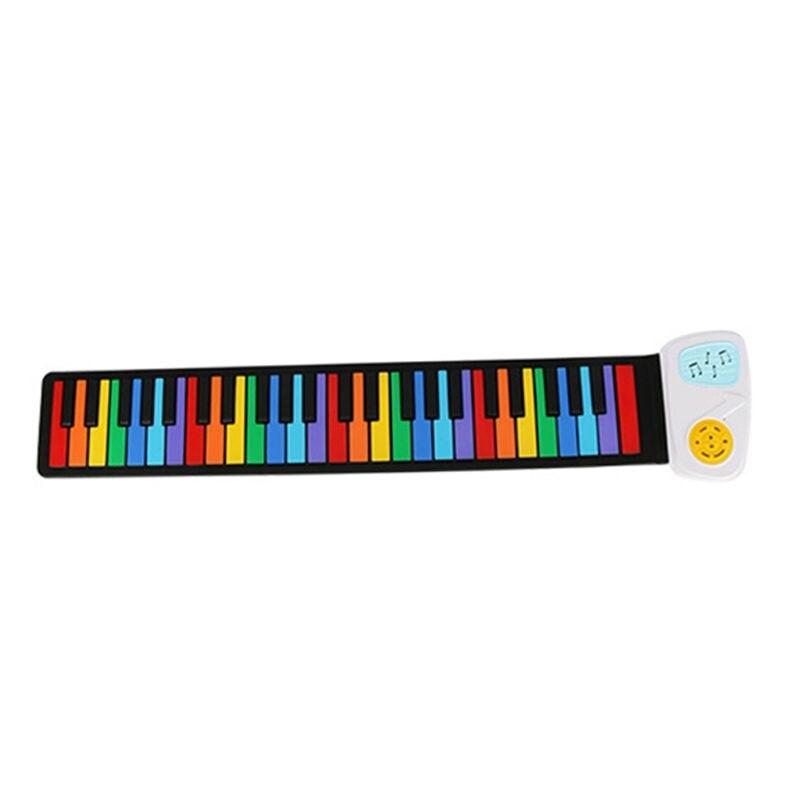 Arc-en-ciel enrouler Piano Portable pliable Standard 49 touches Flexible Silicone souple musique électronique Piano clavier pour débutant