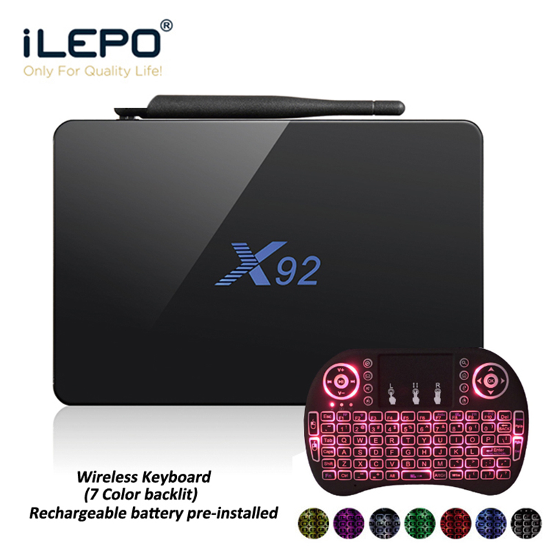 iLEPO TV Box X92 Android 7.1 Smart Amlogic S912 Octa Core 64bit 2G/16G 3G/16G Support 2.4/5GHz WiFi Android BOX TV BOXES