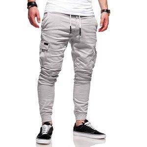 Image 4 - Men Fashion Pants Cargo Overalls Streetwear Joggers Hip Hop Sweatpants Casual Breathable Brand Trousers Male Harem Pants Casual